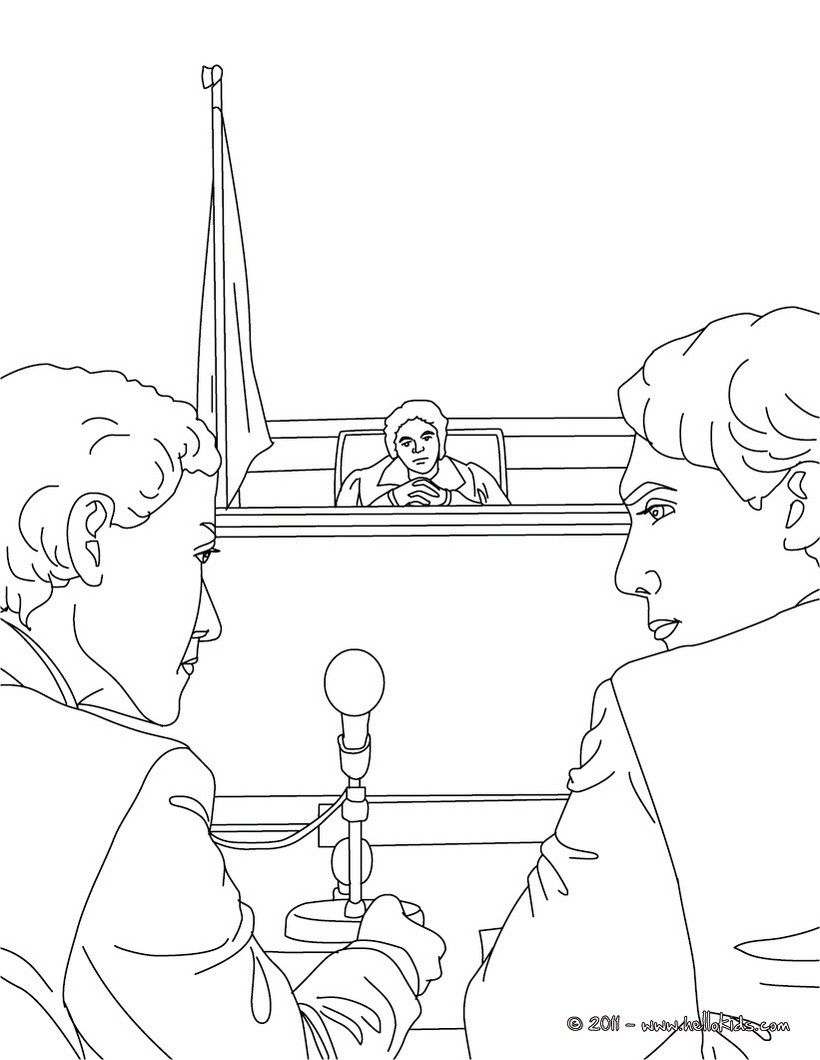 Jurors Coloring Page Amazing Way For Kids To Discover Job More