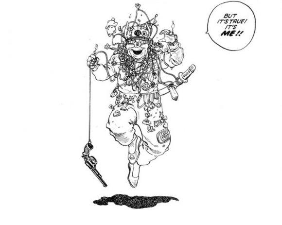 Panel from english version of manga graphic novel, Domu: A Child's Dream, by Katsuhiro Otomo, 1995 (serialized in Japan, 1980-82)
