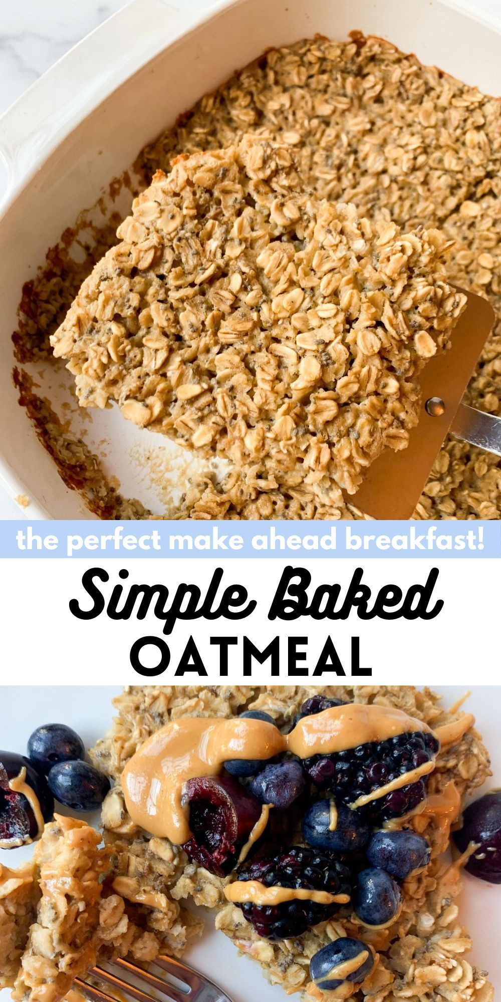 Simple Baked Oatmeal Wellness By Kay Recipe Breakfast Recipes Easy Healthy Breakfast Recipes Easy Breakfast Recipes