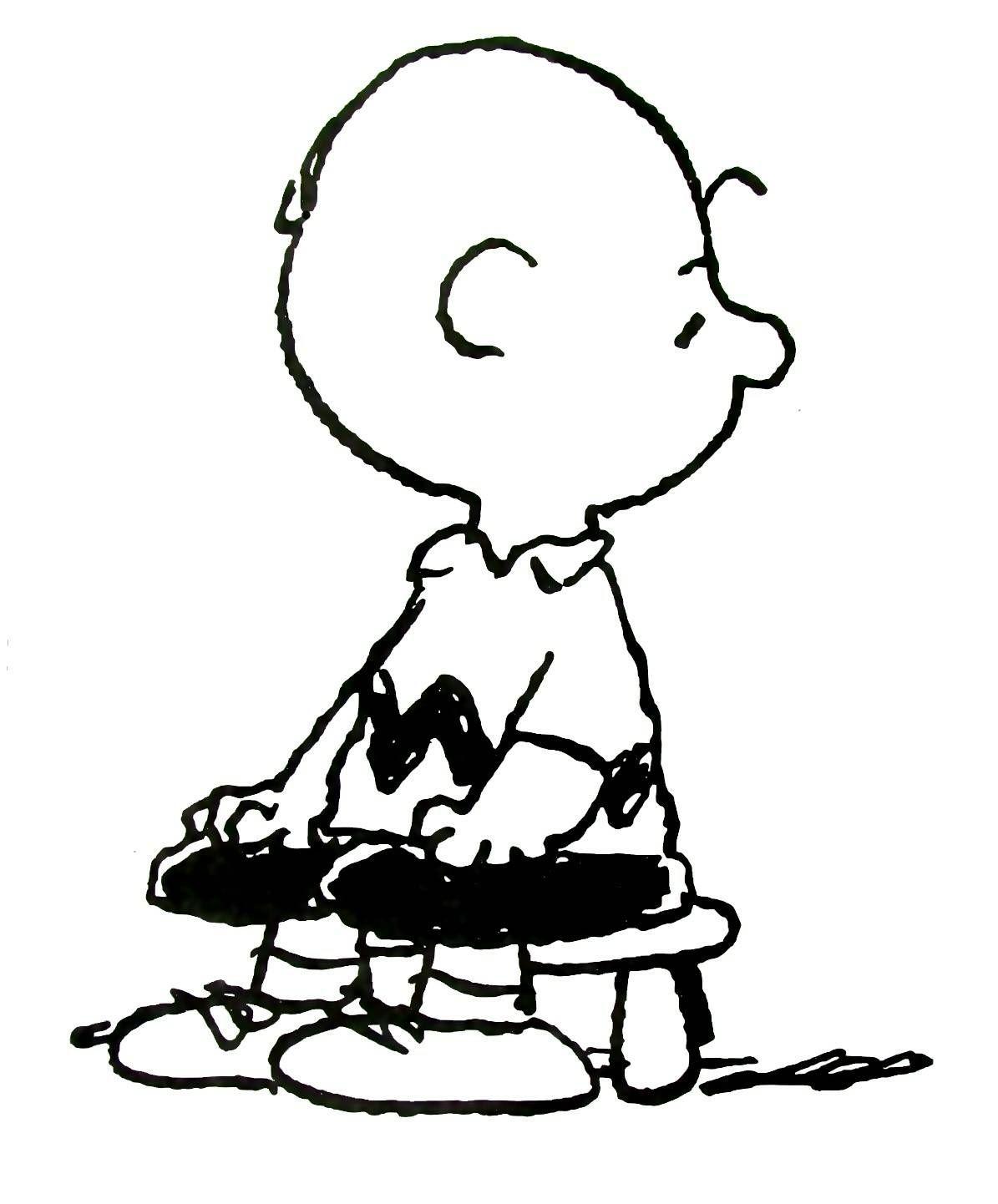 Charlie Brown Coloring Book Page Printable Coloring