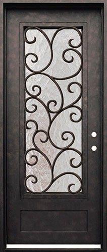 Cascade Iron Front Door Beautiful Wrought Iron Door With