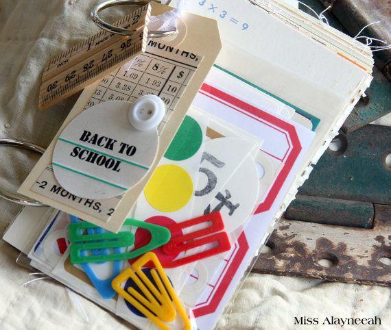 Junk Journal Kit, Back to School, Paper Ephemera, Craft Kit, Inspiration Kit, Smash Book Kit, Collage Art, Mixed Media, Paper Goods