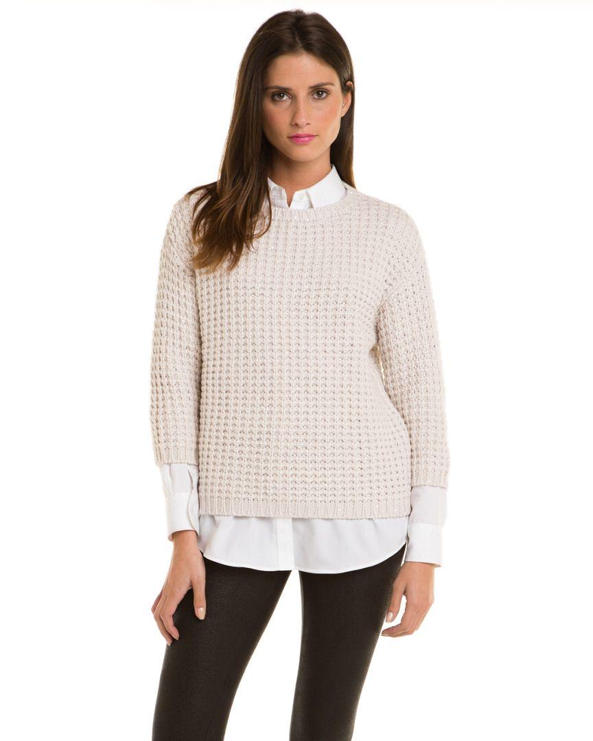 Brunello Cucinelli Ivory Cashmere Pailette Pullover  Pullover #SweaterWomen #Shirts