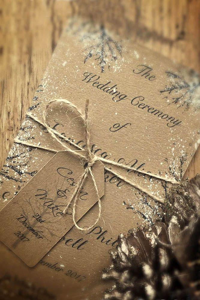 24 Elegant Winter Wedding Invitations Ideas