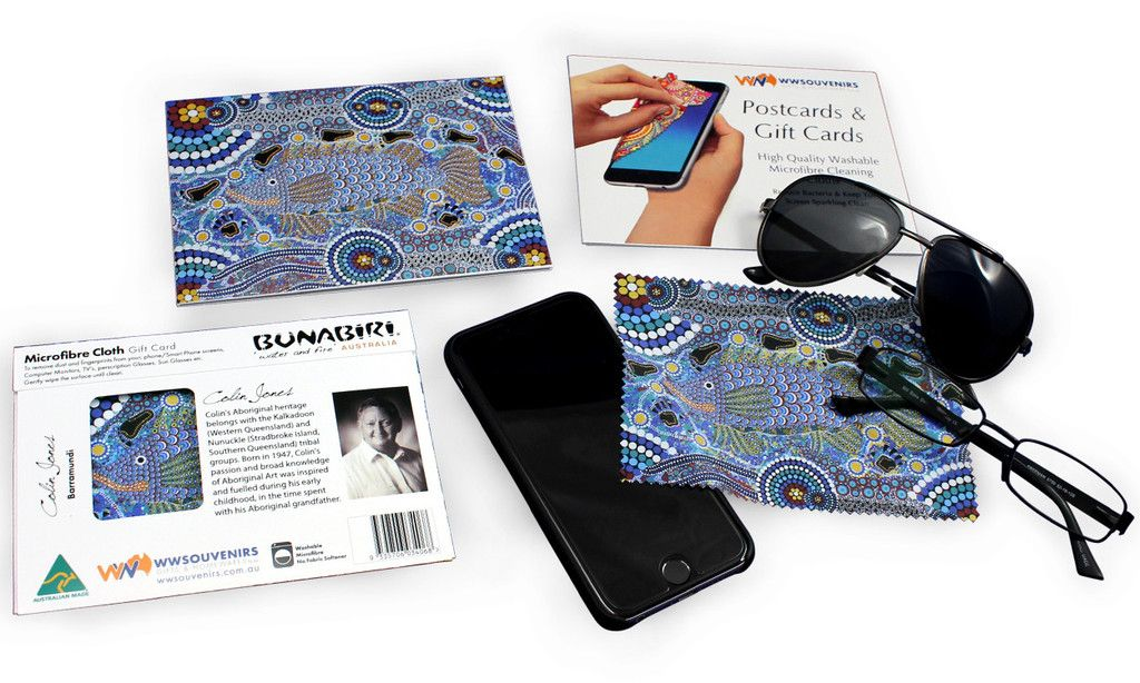 Colin Jones Barramundi Microfibre Cloth Gift Card – Downunder Shop