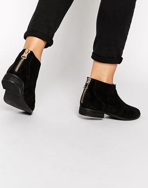 ALDO Rairdon Black Suede Flat Ankle Boots | Flats, Style and Ankle ...