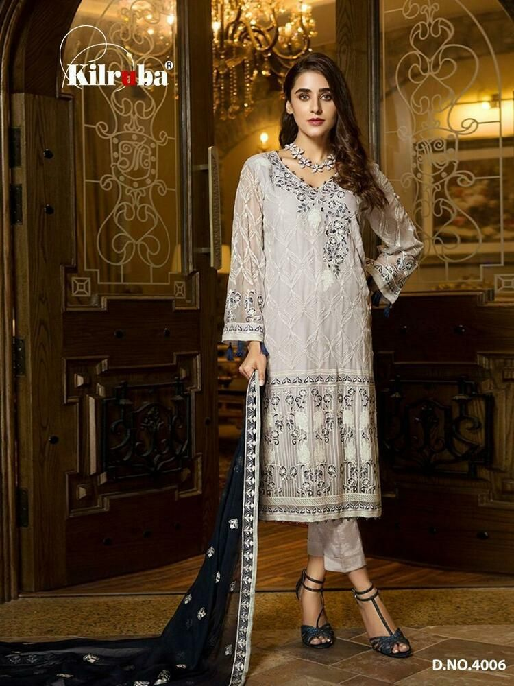 Designer Embroidered Pakistani Salwar Kameez Indian Bollywood Shalwar Suit
