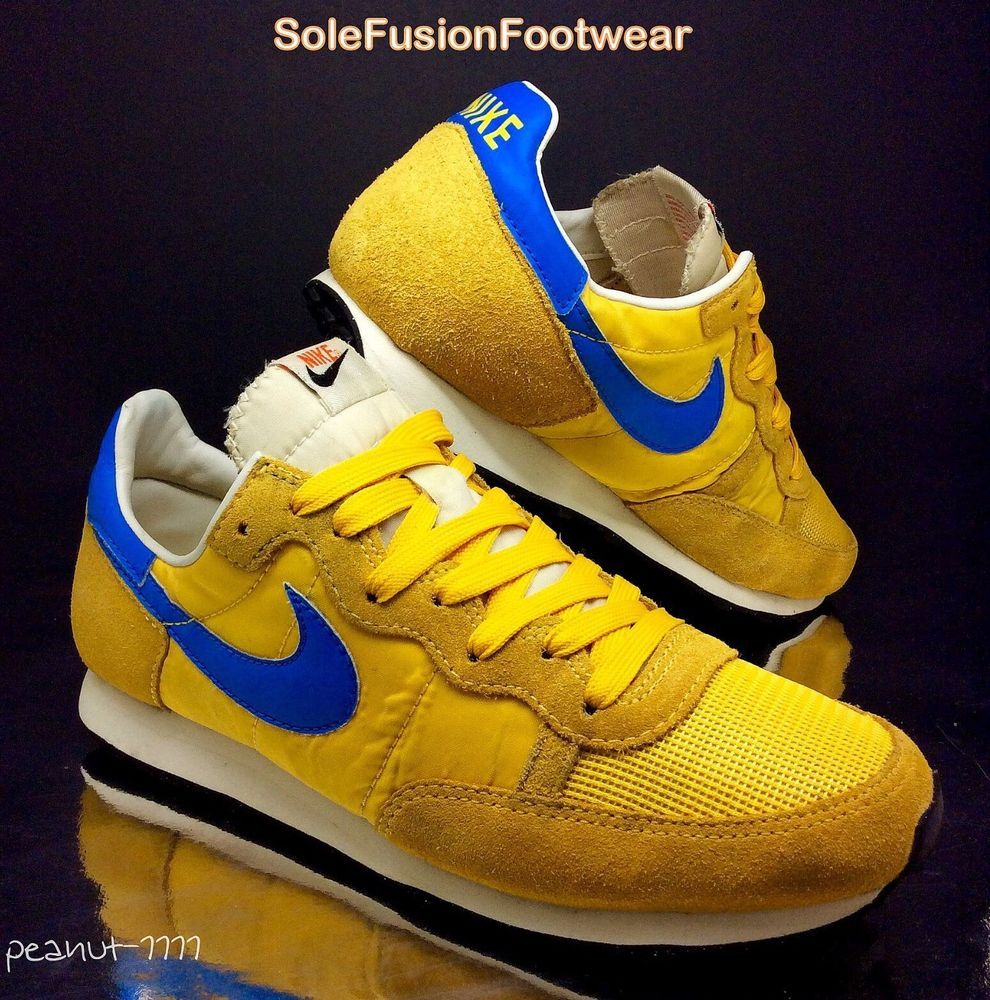 outlet store 1c4bf 013e1 NIke Mens Challlenger Yellow Blue Trainers sz 7 VTG 70s Cortez Sneakers US  8 41 in Clothes, Shoes   Accessories, Men s Shoes, Trainers   eBay