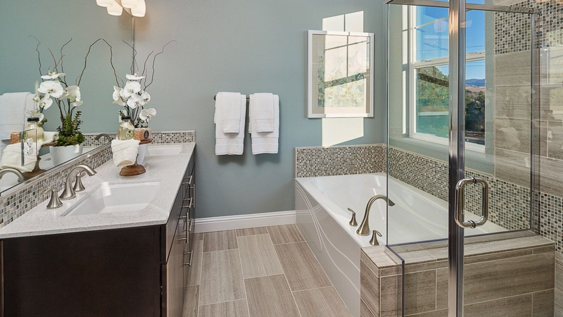 Plan Master Bathroom At Portola In Livermore California Taylor - Bathroom remodel livermore ca