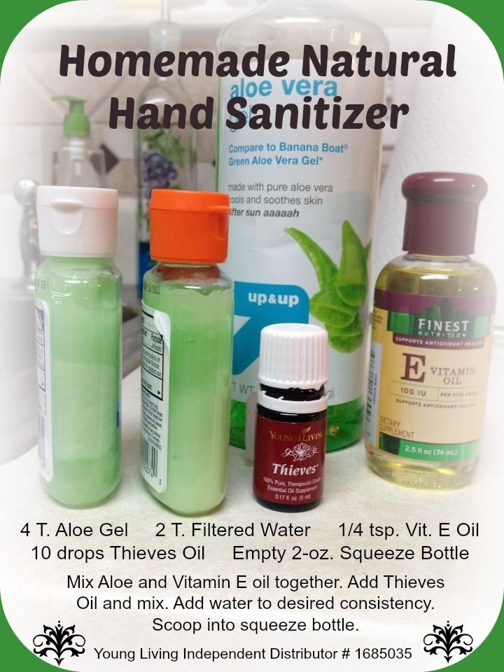 Homemade hand sanitizer or hanitizer as my kids call it