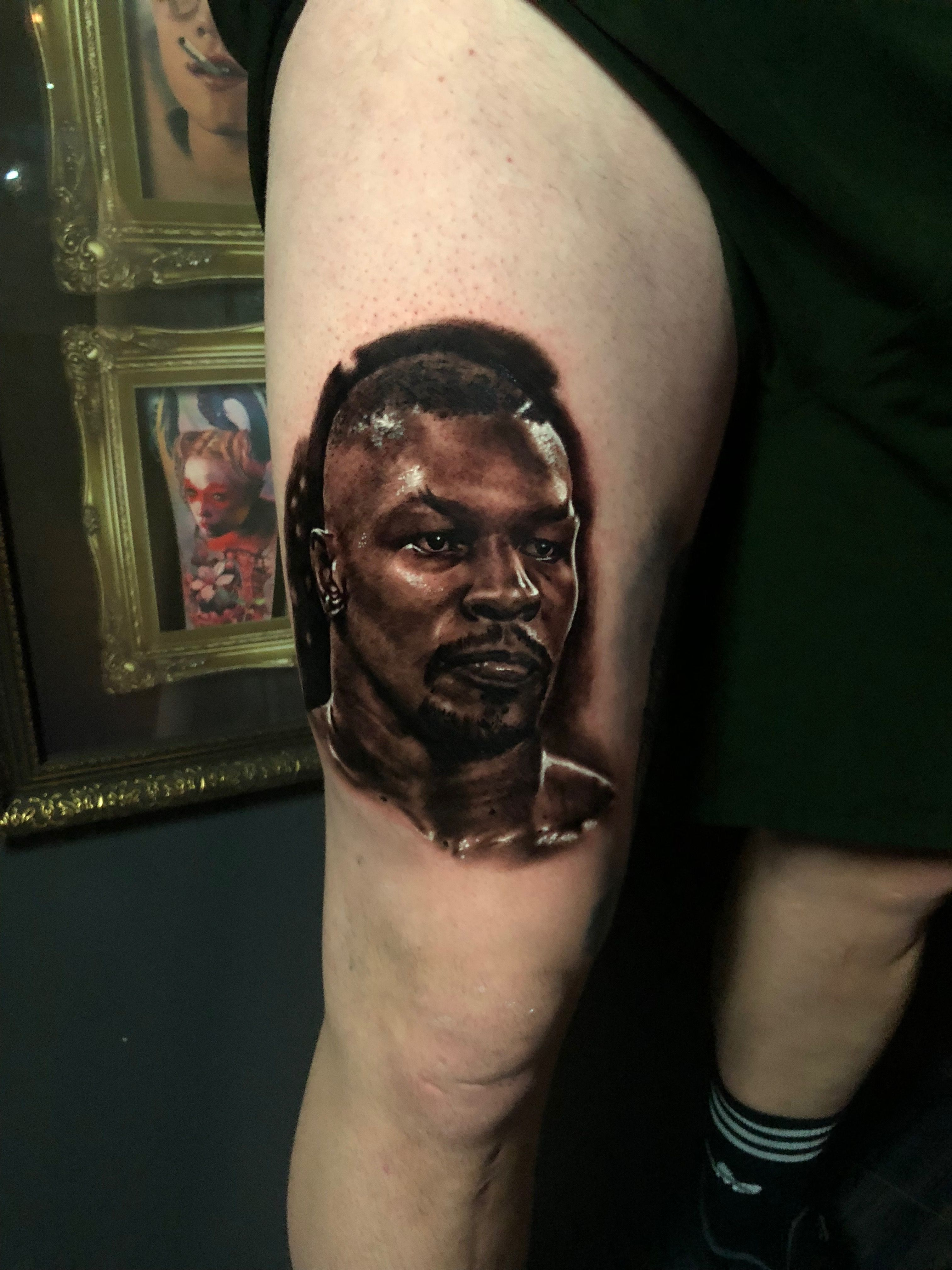 Mike Tyson tattoo by Peter. Limited availability at