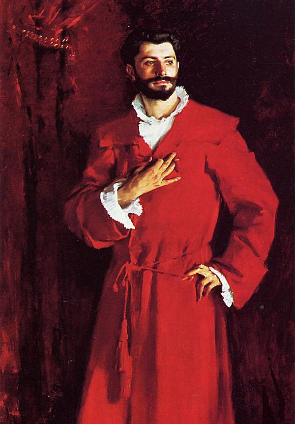 "John Singer Sargent, ""Dr. Pozzi"", (1881)."