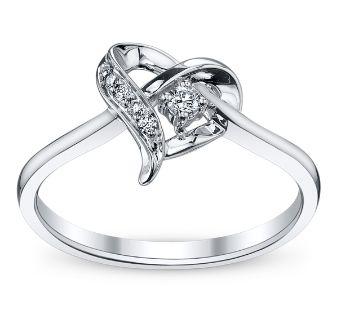 Cherish 10k White Gold Diamond Promise Ring 06 Ct Tw Heart Promise Rings Sapphire Engagement Ring Blue Jewelry