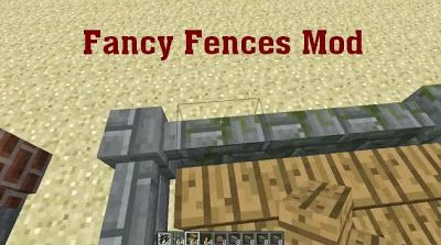 Minecraft download Fancy Fences 1.6.2/1.5.2