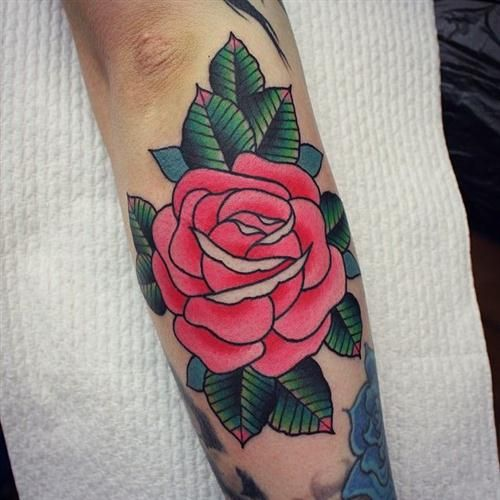 172 Beautiful Rose Tattoos Ideas