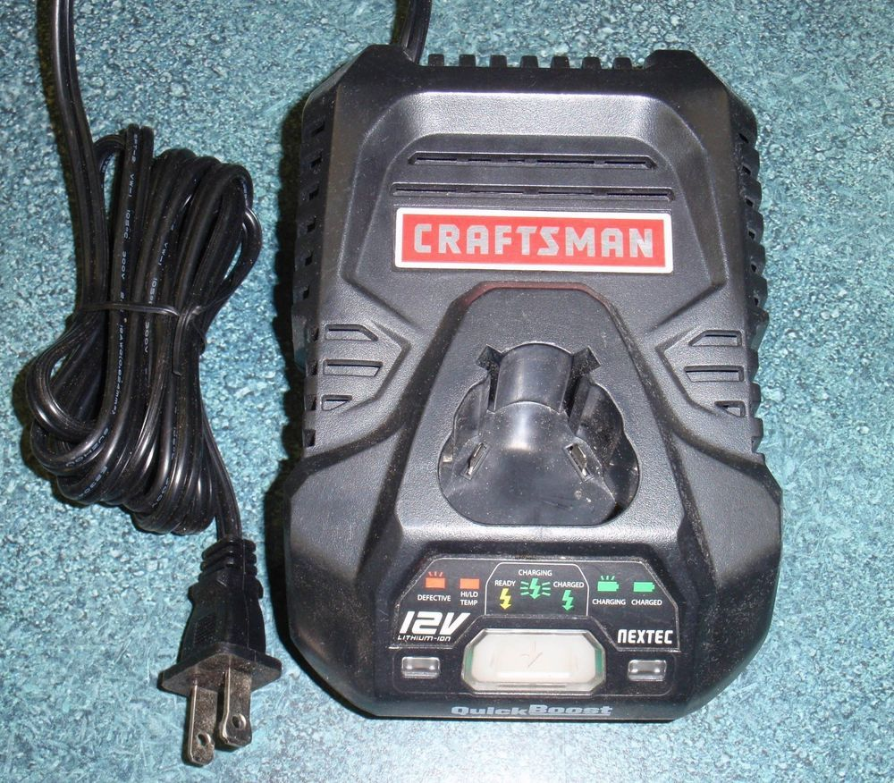 Craftsman Nextec 12v Lithium Ion Quick Boost Battery Charger Model 320 29497 Craftsman Battery Charger Craftsman Charger