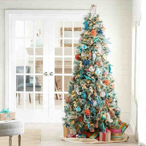 coastal christmas ornaments kohls coastal christmas tree 2015 - Kohls Christmas Decorations
