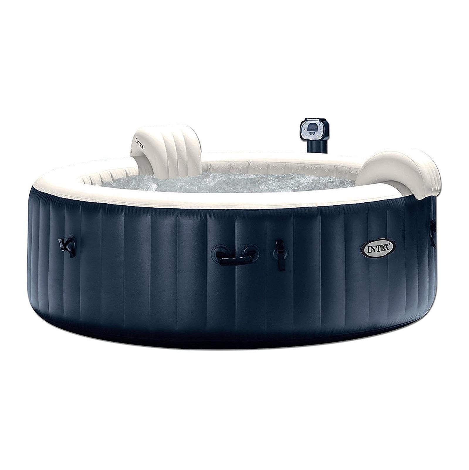 Details About Intex Purespa 75 Inch Portable Bubble Jet Spa 6 Person Inflatable Round Hot Tub Baignoire Spa Gonflable Et Spa Gonflable Intex