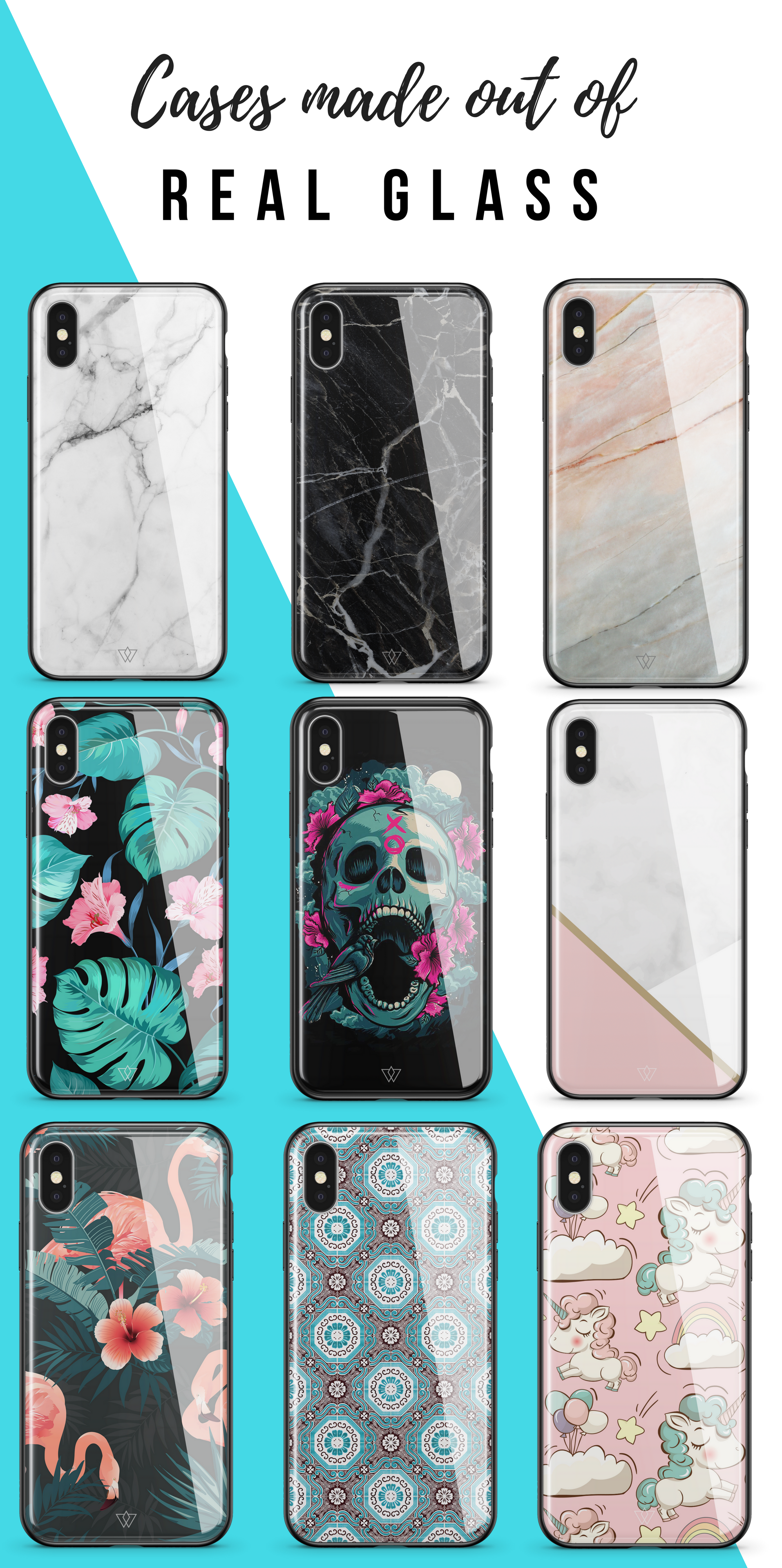 efb689236d0  50% OFF - £19.95  Cases made out of REAL GLASS  Available for All iPhone  Models. Designed in London