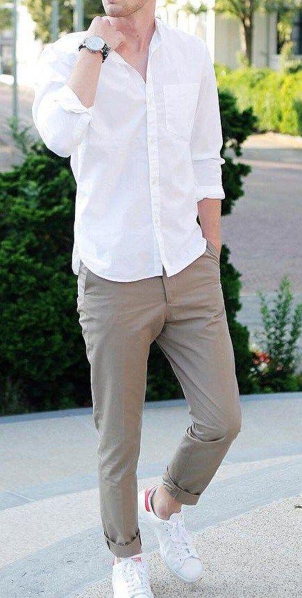 Adoptez le pantalon chino pour homme élégant et décontracté   – Men's Fashion Style