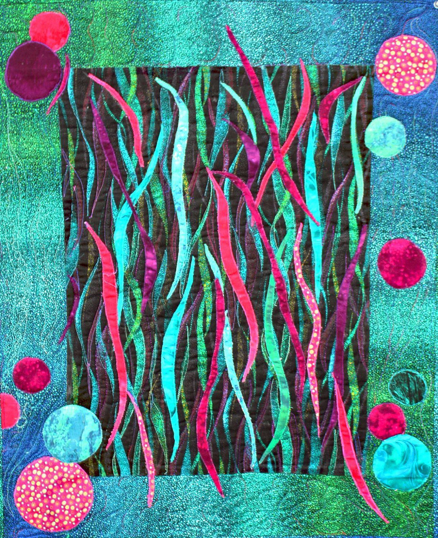 Contemporary art quilt.
