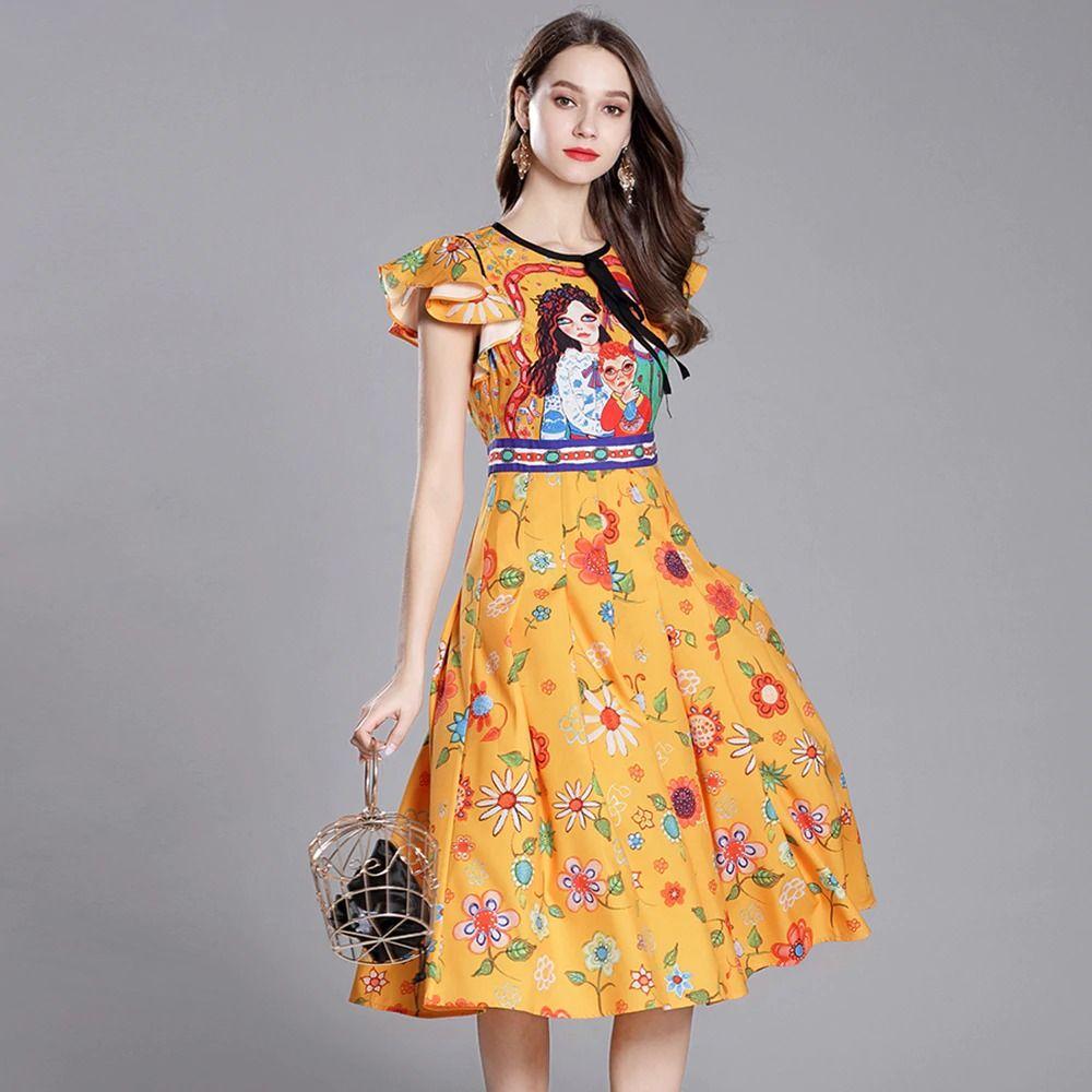 Ruffle Sleeve Pleated Midi Dress  Pleated midi dress, Runway