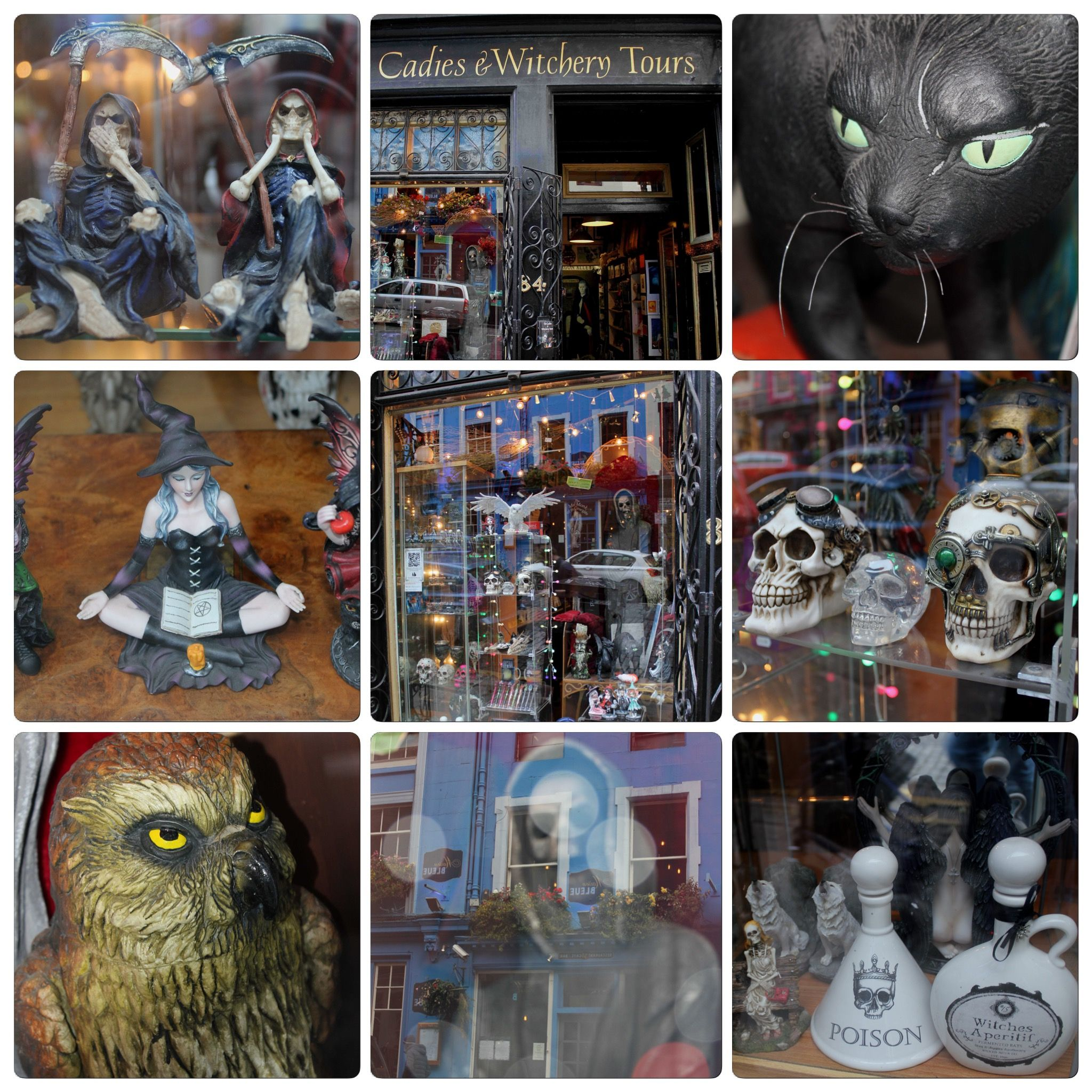 The Cadies Witchery Tours Shop Window At 84 West Bow Victoria Street