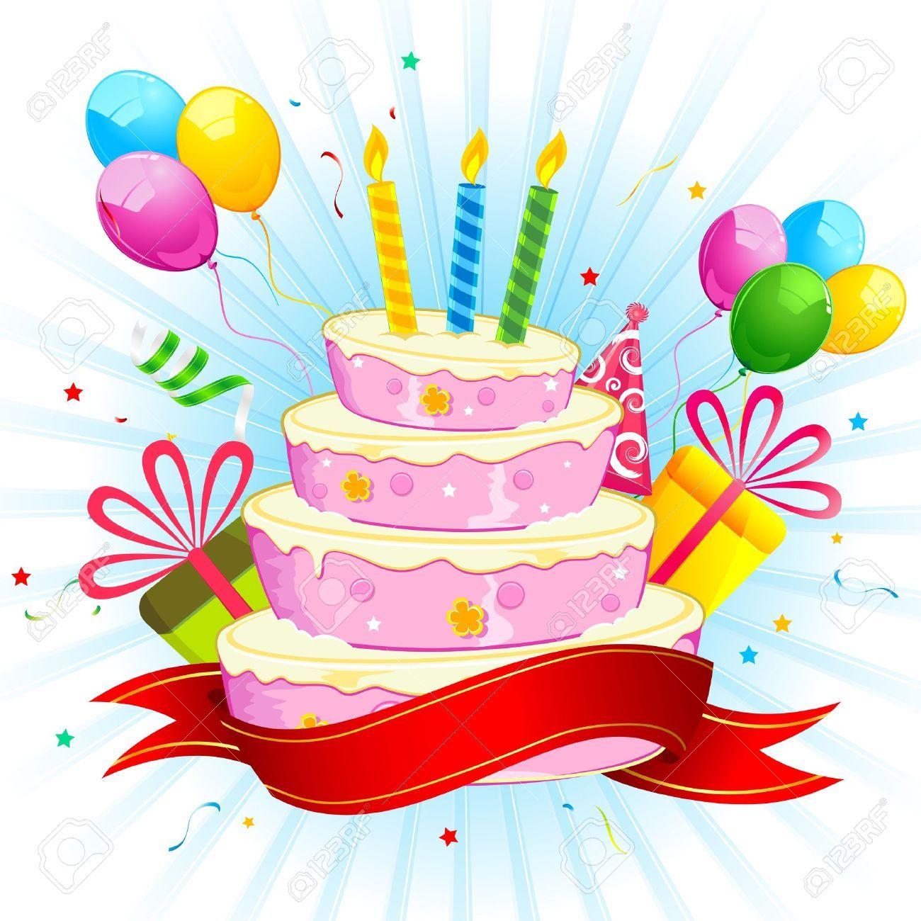 17441425 illustrazione di torta di compleanno con il mazzo for Disegni e prezzi del mazzo