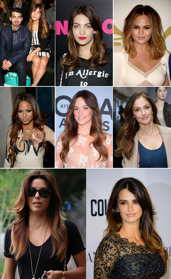 Top 2 Celebrity Sombr Hair Colors 2014 Spring Dark Brown Medium