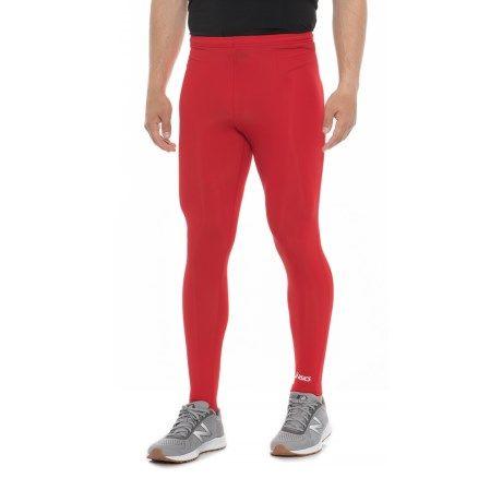 asics mens running tights