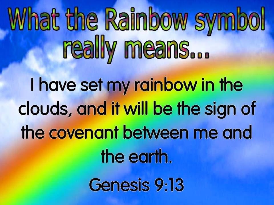 Genesis 9:13   Rainbow quote Rainbow meaning Gods promises