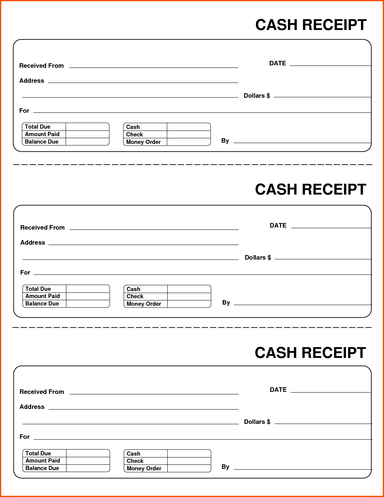 Receipts Template Word Sharepoint Tester Cover Letter Performance