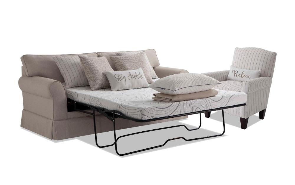 Laurel Beige BobOPedic Cooling Sleeper Sofa & Accent