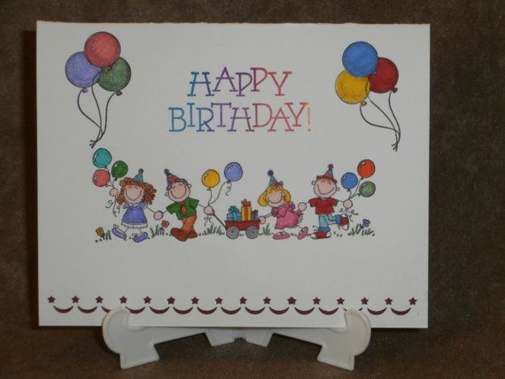 Kids Birthday Card C120 by PurpleIntentions on Etsy, $3.25