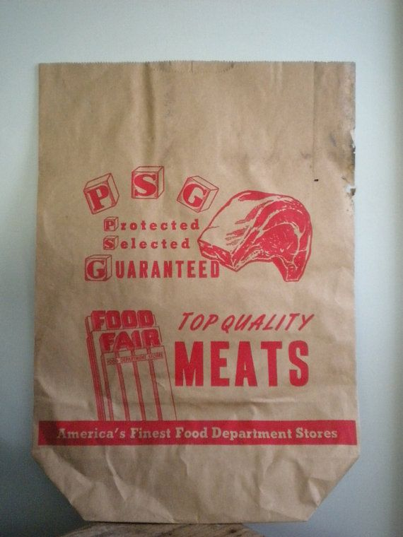 It Pays To Go To A Bob Grocer You Know Vintage Shop Advertising Paper Bags