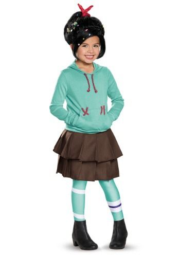 Child Deluxe Vanellope Von Schweetz Costume Children Halloween