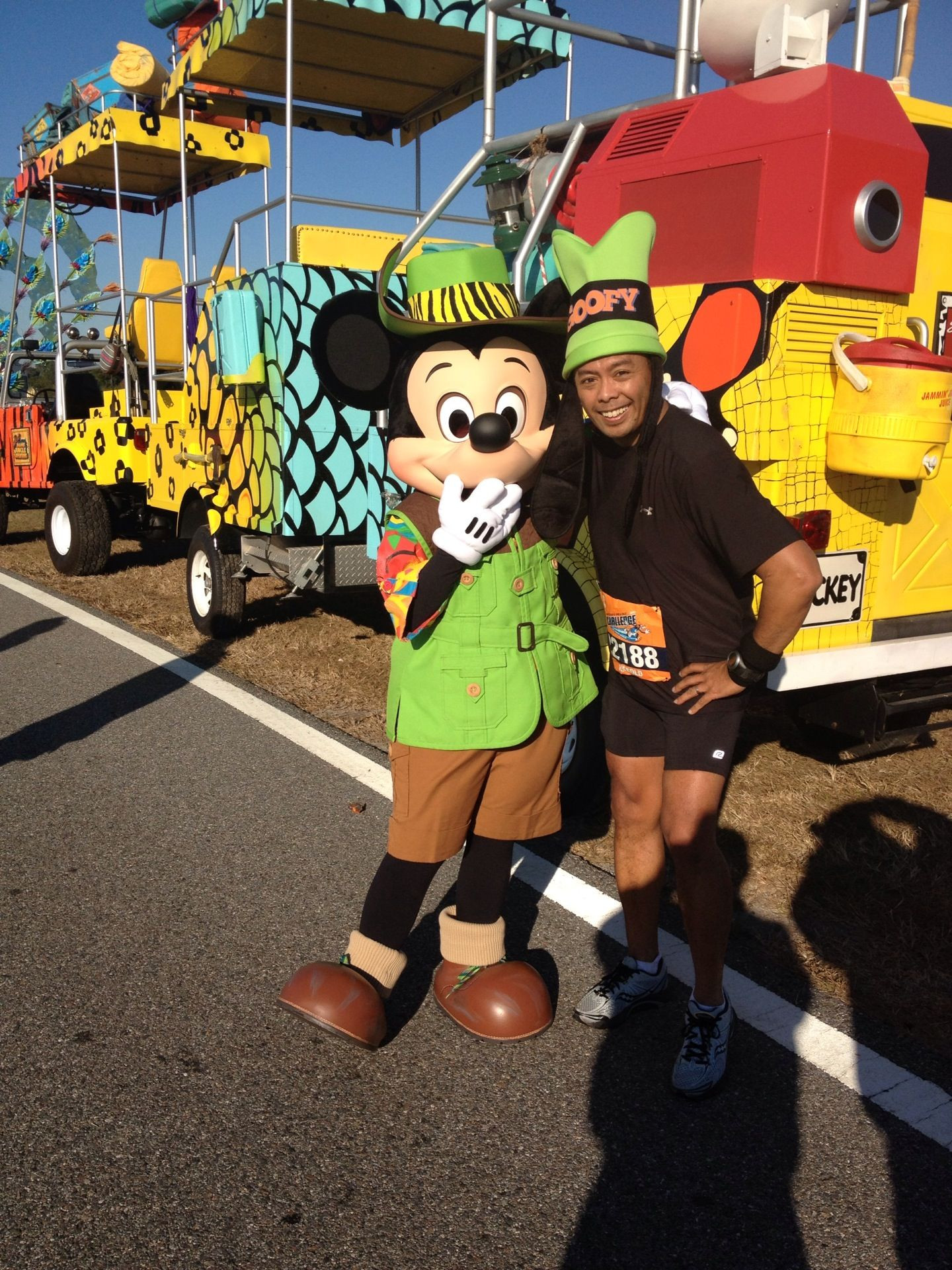 Goofy Run 2012...A half marathon on Saturday followed by the marathon on Sunday...you gotta be GOOFY...but did it!