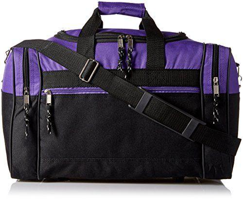 cd98591871fc Blank Duffle Bag Duffel Bag in Black and Purple Gym Bag D…