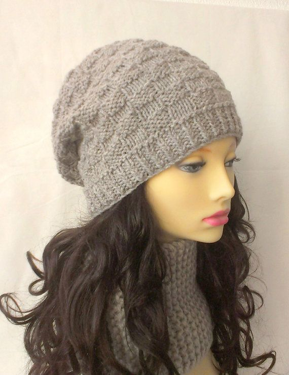 b37262bcc17 Womens Slouch Beanie KNITTING PATTERN Handmade Gift for Sister Mom ...