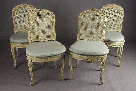 C-31 Ein Satz Barockstühle alte und antike Stühle Barock um 1760 ...