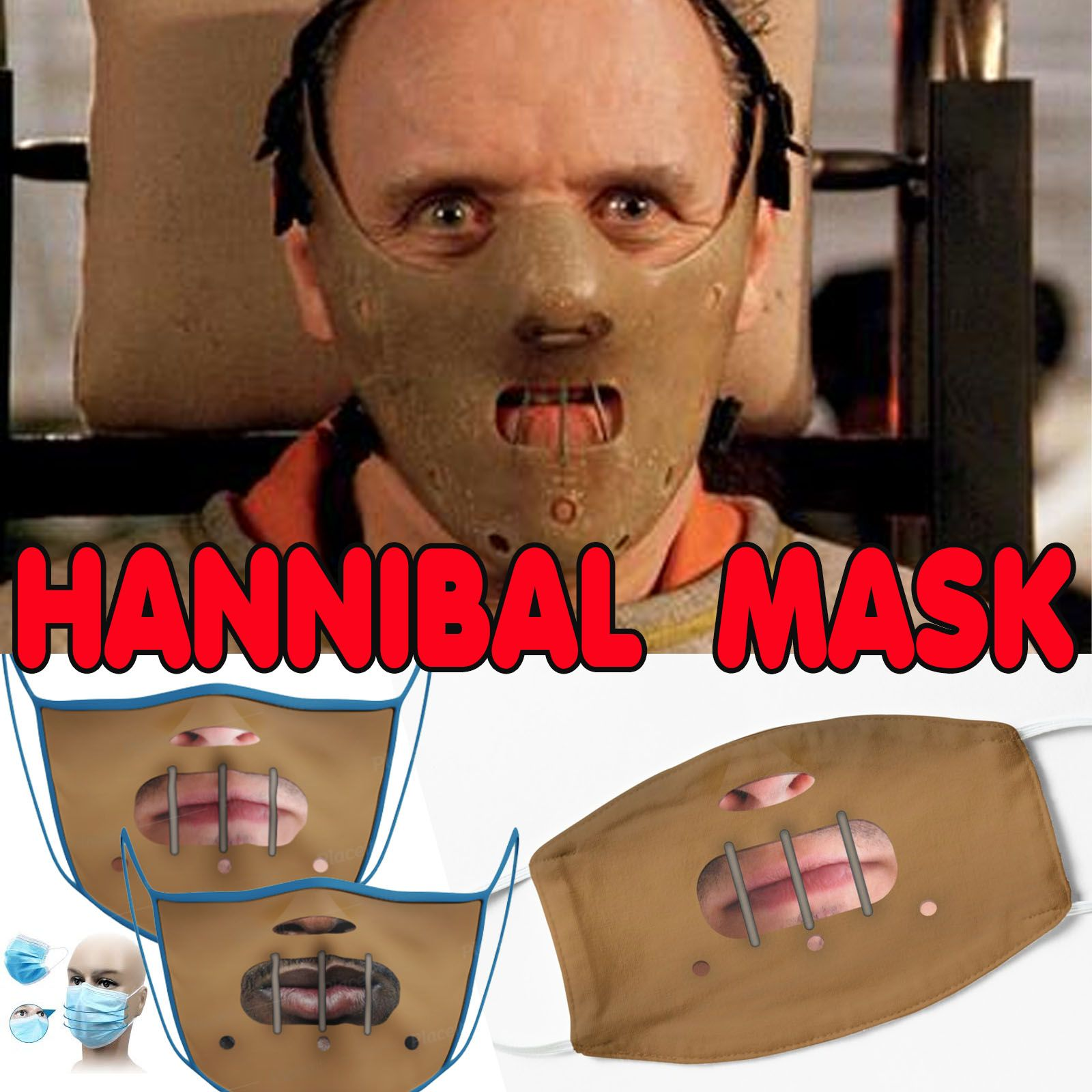 Funny Horror Mask 1 Gift Mask By Davide174 Hannibal Mask Funny Horror Hannibal Lecter Mask Mask jason voorhees vs hannibal lecter !!! funny horror mask 1 gift mask by