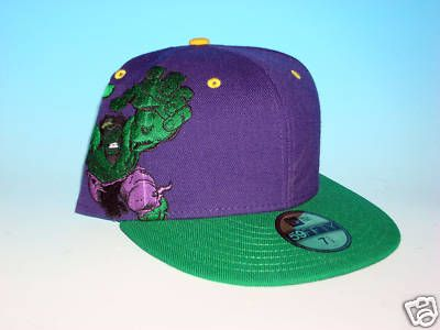 895dc7656ca52 Avengers New Era Marvel Comics 59Fifty Incredible Hulk Hat Size 7 1 2 Fitted