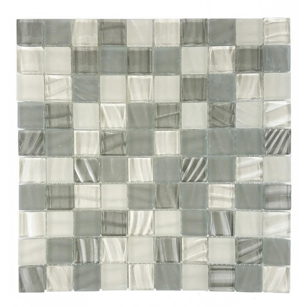 Abolos new era khaki gray in x in x mm glass mosaic