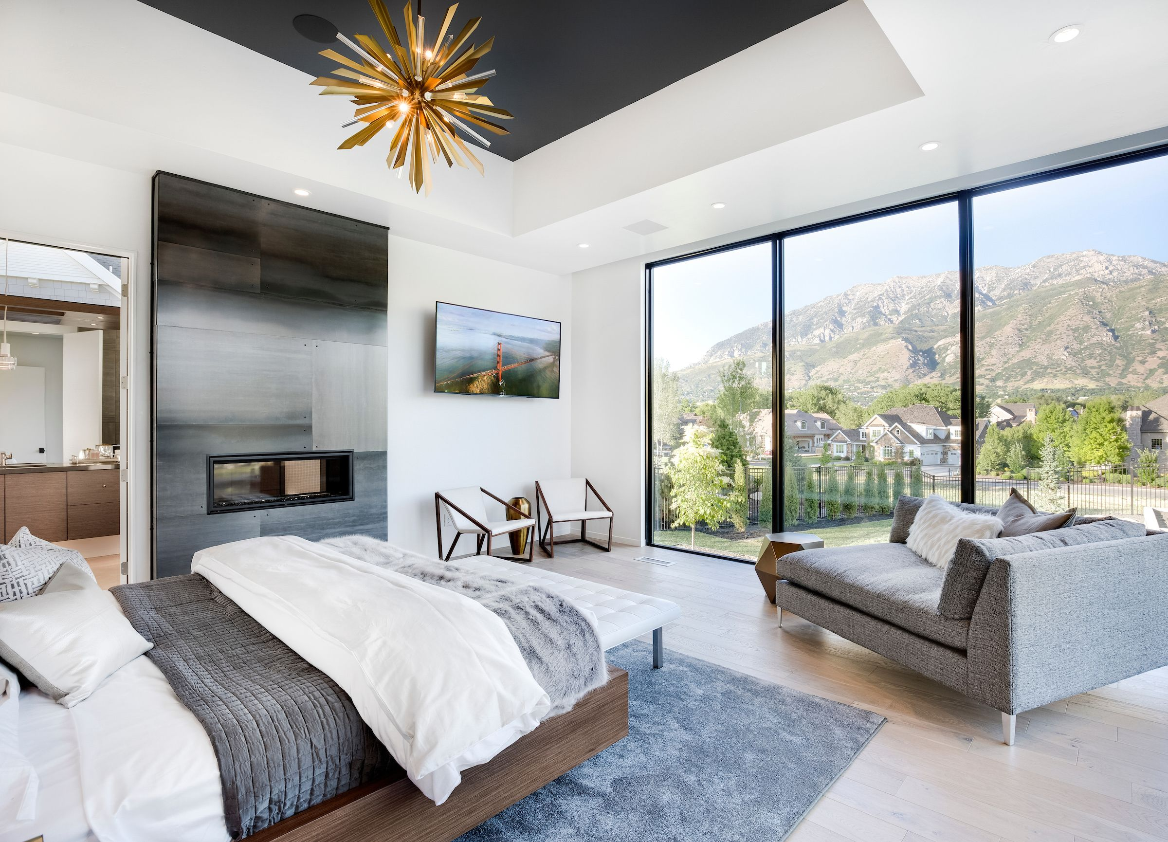 Best Modern Master Bedroom The Room Has Floor To Ceiling 640 x 480