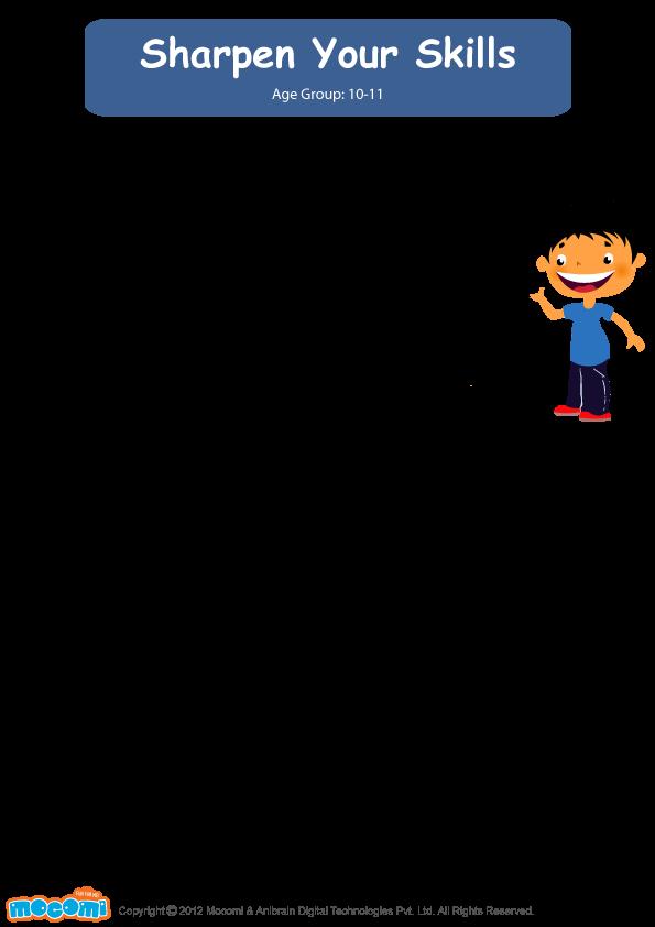 Sharpen Your Math Skills Math Worksheet For Kids Pinterest