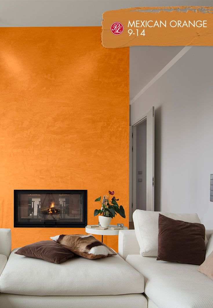 Mexican Orange 9 14 Paint Color Should Reflect The Activity Of The Room Using The Warm Sha Living Room Colors Living Room Orange Paint Colors For Living Room