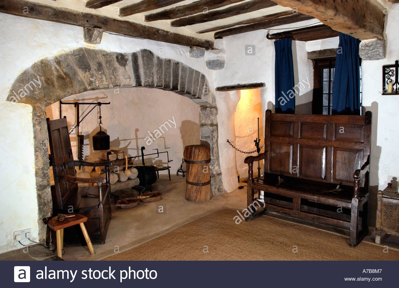 Interior of the Tudor Merchants House late 15th century town house ...