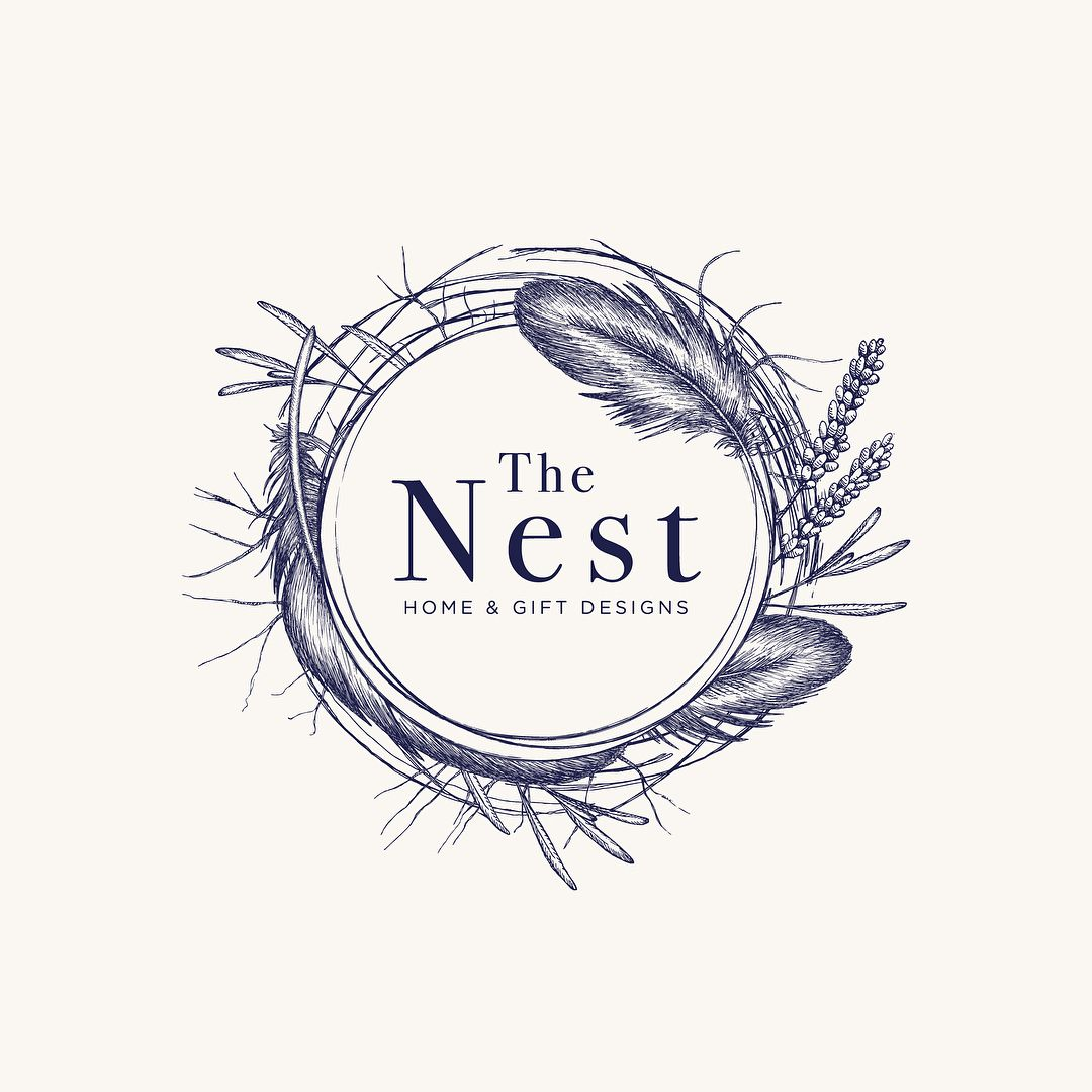 Logo design for The Nest, an online business for home and