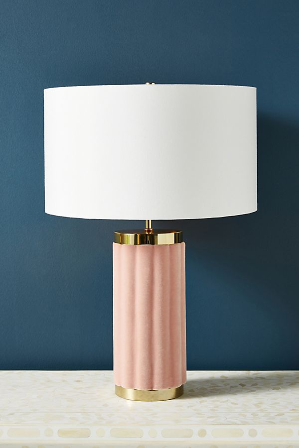Juneau Velvet Table Lamp Table Lamp Lamp Glam Table Lamps