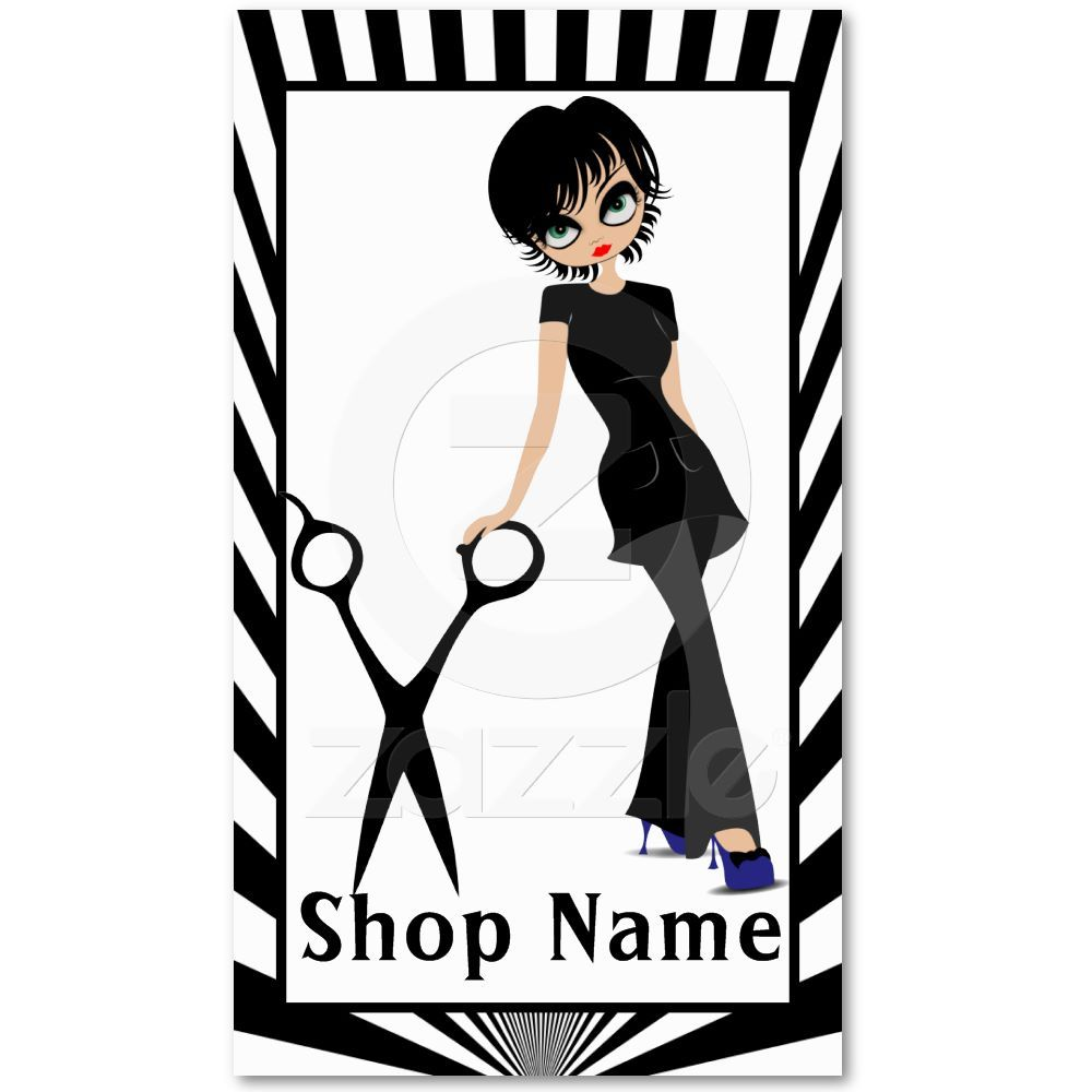 Short haired beauty salon girl in blue shoes business card from short haired beauty salon girl in blue shoes business card reheart Image collections